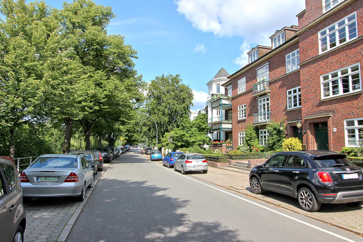 WINTERHUDE - Fahrradstraße Leinpfad